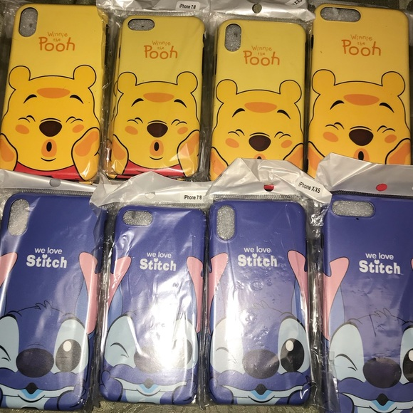 POOH and STITCH iPhone cases
